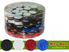 Barattolo da 60 pz. overgrip pro tennis roy mix colori